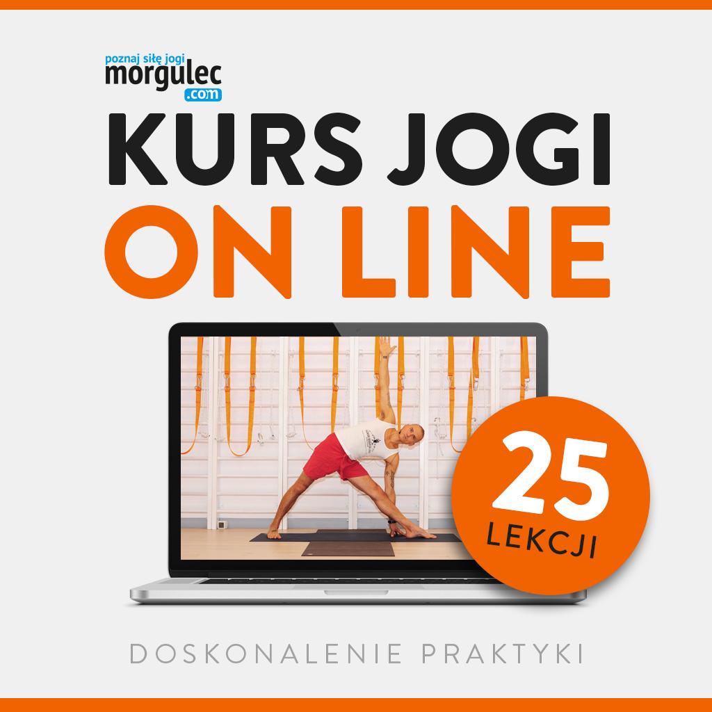 Kurs jogi ON-LINE 25 lekcji Wiktor Morgulec- doskonalenie praktyki 04.05-08.06.2021