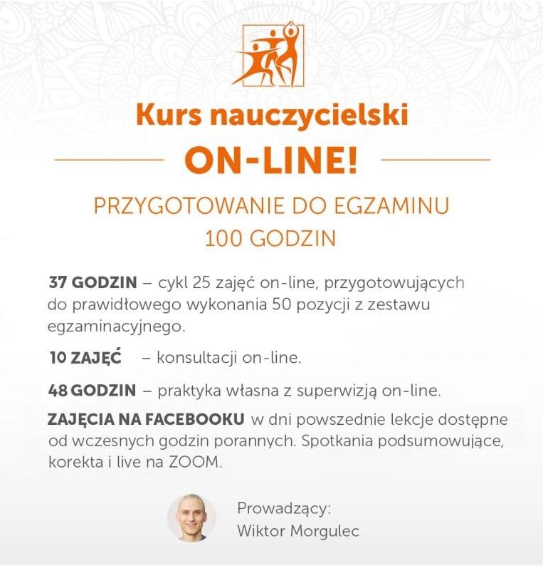 Kurs Nauczycielski Jogi ON-LINE – Przygotowanie do egzaminu – 20.09 – 22.10.2021